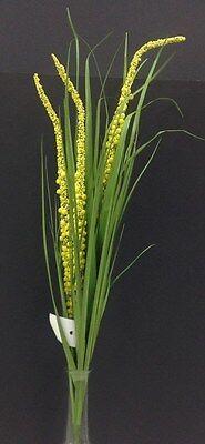 Tall Green Grass (Green PVC Grass Stem w/Yellow Berries. Artificial. 42