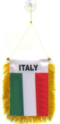 Italy Italian MINI BANNER FLAG CAR & HOME WINDOW MIRROR HANGING 2 - Italian Banner