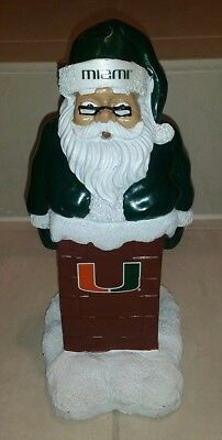 Miami Hurricanes Santa (Forever Collectibles Miami Hurricanes Resin Santa Claus Chimney Figure)