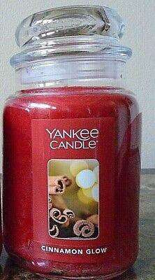 Yankee Candle Cinnamon Glow 22 oz i Single NEW Free Shipping