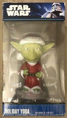Funko Pop Star Wars Holiday Yoda Bobble Head 830395083902 RARE Santa Yoda