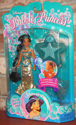 "Disney 6"" Bubble Princess Jasmine doll princess mattel 1995 Aladdin"