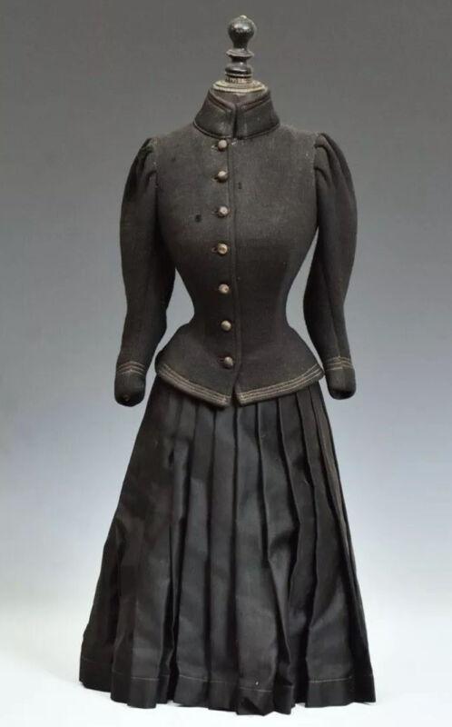Antique 19th Century French Dressmaker Miniature Model Form Store Display. Paris
