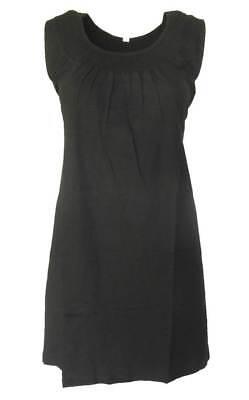 Schwarzes Damen-kleid-shirt (SHEEGO Damen Kleid Shirtkleid Strandkleid schwarz GR. 48 NEU - K18)