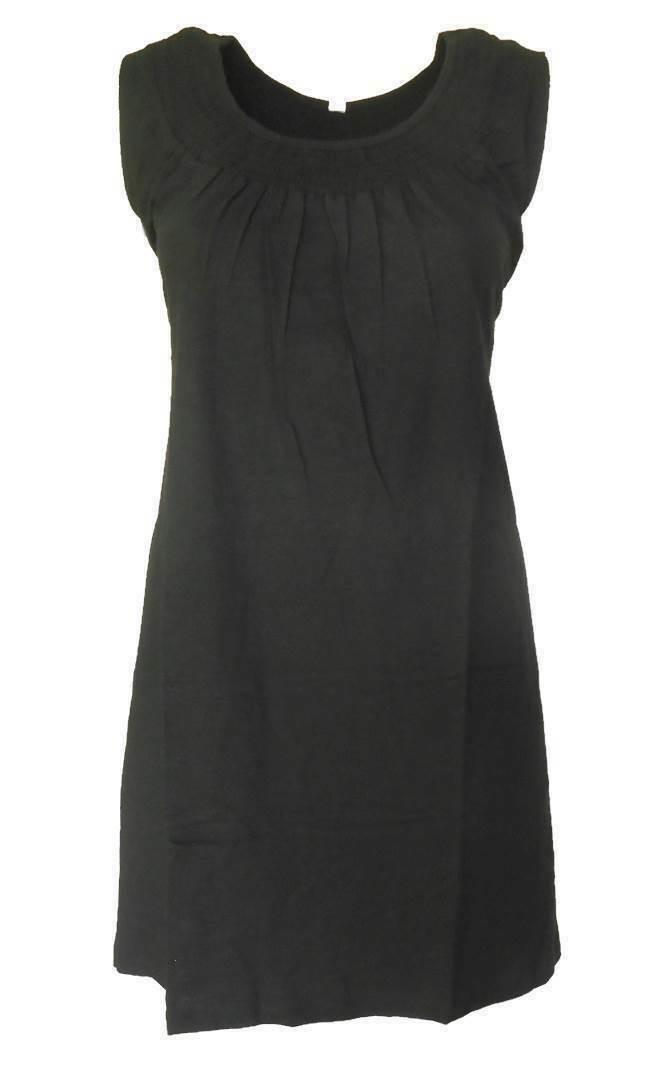 SHEEGO Damen Kleid Shirtkleid schwarz GR. 40 42 44 46 48 50 52 54 NEU - K18