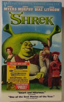Shrek VHS tape 2001 Sealed, Mint Special Edition DreamWorks #83670 ](Shrek Halloween Special)
