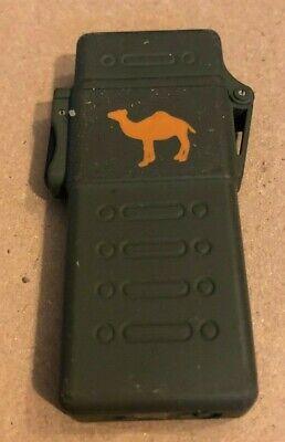 Vintage Camel Flip Top Cigarette Lighter Military Plastic Case Collectible