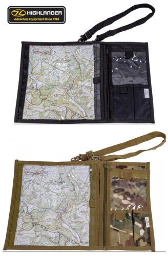 Army Combat Military Map Document Shoulder Binder Case Waterproof Black Camo