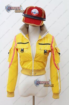 Final Fantasy XV Cindy Cosplay Jacket with Hat Sexy Midriff FFXV ()