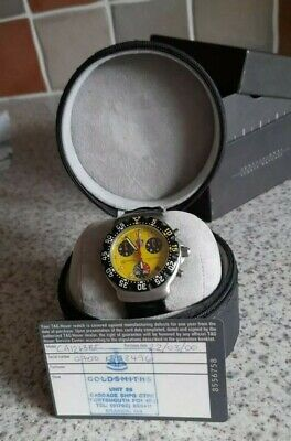 Tag Heuer Formula 1 Chronograph Yellow CA1213 Men Watch Box & Papers Very Rare