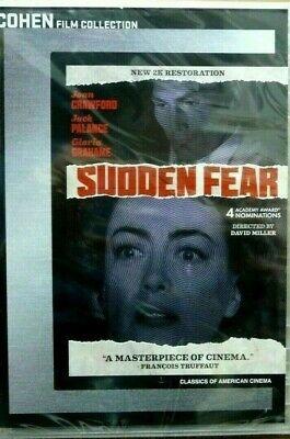 Sudden Fear DVD Joan Crawford, Jack Palance NEW 2K Restoration 2020