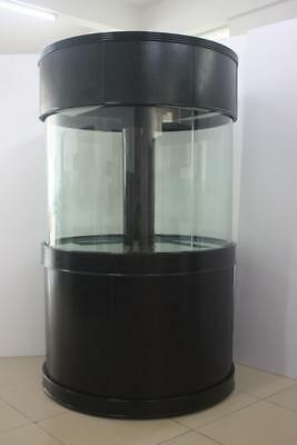"AquaVim Reef-Ready Glass Cylinder 48"" Diameter x36""H Aquarium Ensemble DRILLED"