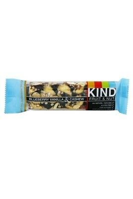 Kind Bar - Fruit & Nut Bar Blueberry Vanilla & Cashew - 1.4 oz. Lot of 3 Bars.