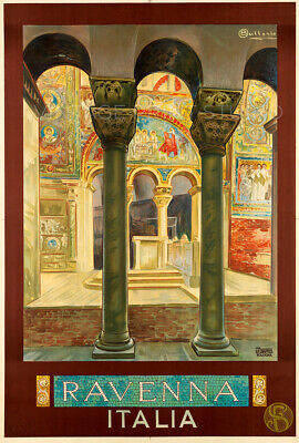 Ravenna Vintage Italian Travel Advertising Poster Giclee Canvas Print 20x30