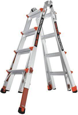 New Little Giant Revolution Alum. 4 In 1 Ladder M17 Type Ia 300lbs W Levelers