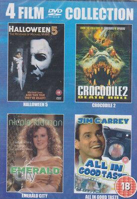 4 Film Collection Halloween5. Crocodile2. Emerald City. All in Good Taste DVD 18 ()