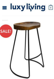4x industrial bar stool stackable modern dining chair steel new