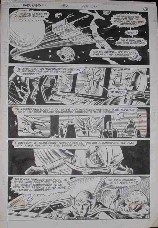 Power Lords 3 Page 8 Original Comic Art