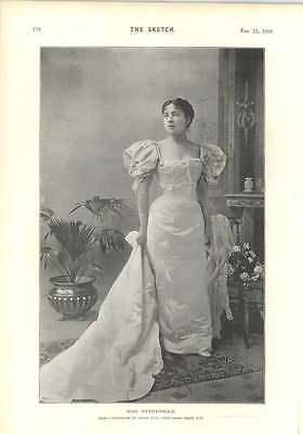 1894 The Figure Of Hunger Dudley Hardy Olga Nethersole Photograph