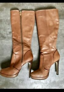 Two pairs of woman's leather boots