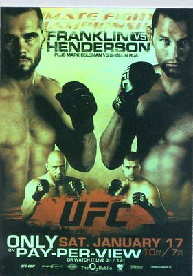24x36 Michael Bisping vs Dan Henderson 2 UFC 204 Fight Poster