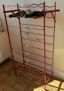 "Vintage 1950-60's French (BLACK) Metal 50 Bottle Wine Racks""NOS"""