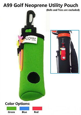 4b77d36994 A99 Golf Utility Pouch Neoprene Golf Balls Holder Tees Accessories Bag with  Clip