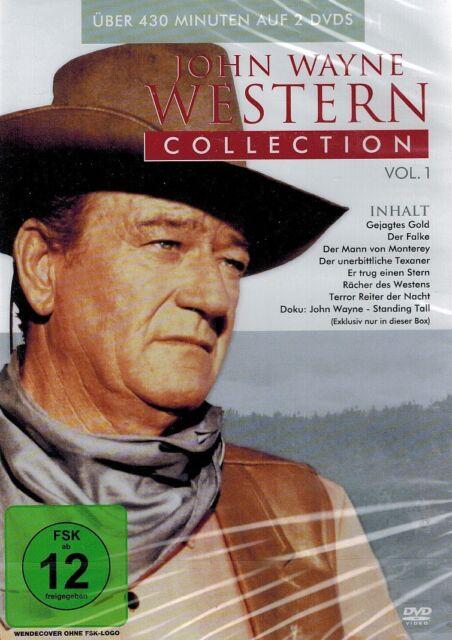 DOPPEL-DVD NEU/OVP - John Wayne Western Collection - Vol. 1 - 8 Filme