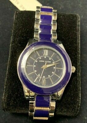 Anne Klein Light Blue Dial Two-tone Ladies Watch 1413LBSV