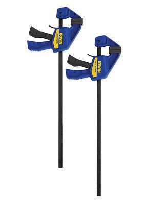 "2 x IRWIN Quick Grip Mini Bar 300mm 12"" Trigger / G / Speed Clamps T54122EL7"