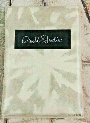 DWELL STUDIO Watercolor Smoke EURO SHAMS 400 Thread Count Combed Egyptian Cotton