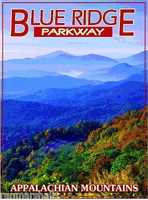 Blue Ridge Parkway Appalachian United States Travel Advertisement Art Poster 3