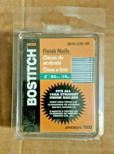 "Bostitch 2"" Finishing Nails SB16-2.00-1M QTY 1000"