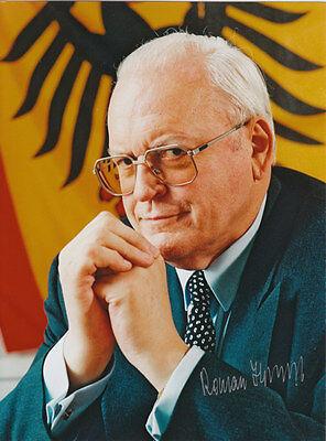 Roman Herzog Autogramm auf Großfoto original signiert (seltenes Format 20x27cm)