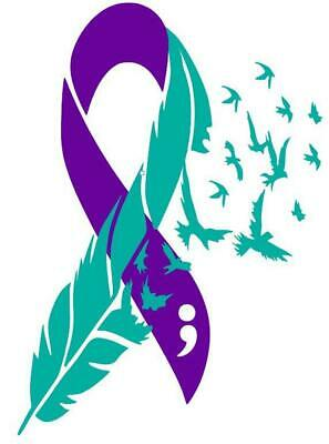Suicide Awareness Ribbon (Suicide Awareness Ribbon Decal / Remembrance - Non-Profit)