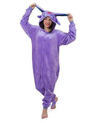Halloween Geschenk Lila Schlumpf Onesiee Kostüm Kapuzenpullover Pyjama ()