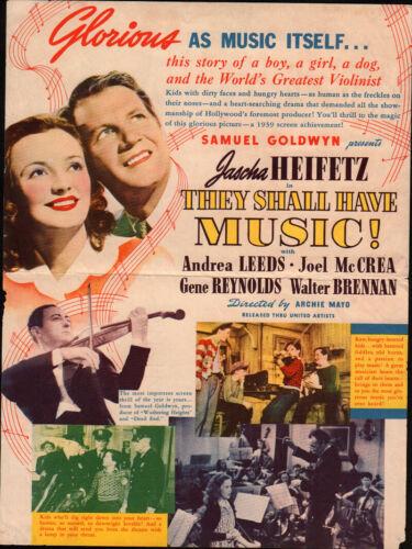 They Shall Have Music  Original Movie Herald 1939