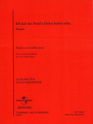 Ich hab das Fräul'n Helen baden sehn Noten Combo Salonorchester Martin Uhl (Arr.