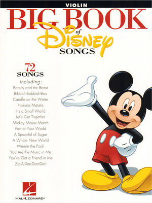 Big Book of Disney Songs 72 Titel Noten für Violine Geige Violin