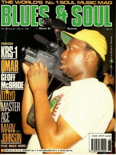 Blues & Soul Magazine 1990  KRS-One   Omar    Marv Johnson   Master Ace   Titiyo