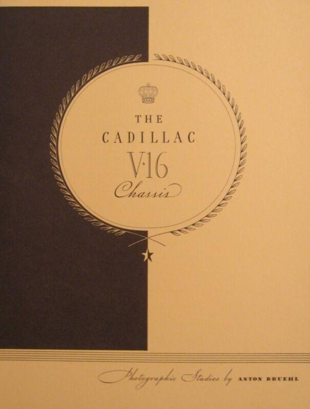 1929 1930 Cadillac V-16 Brochure, Anton Bruehl Photographic Study, Series 452