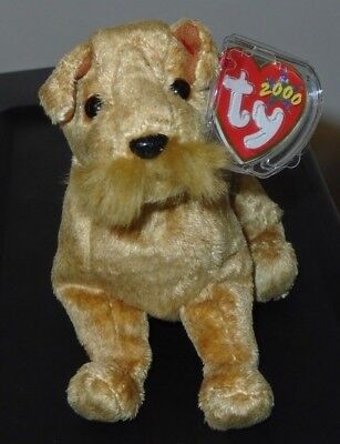 Ty Beanie Baby ~ WHISKERS the Dog (6 inch) MWMT