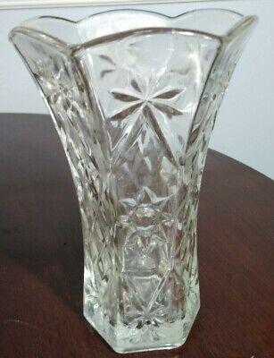 "Vintage Anchor Hocking Star of David EAPC  6 Panel Vase 8 3/8"" EUC for sale  Dunedin"