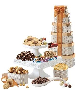 Towering Heights Assorted Chocolate, Cookies and Sweets Gift Tower