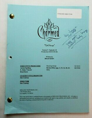 CHARMED / 2003 TV Script DIRECTOR'S personal handwritten annotations
