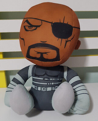 MARVEL COMICS AVENGERS NICK FURY PLUSH TOY! SOFT TOY ABOUT 28CM SEATED KIDS TOY