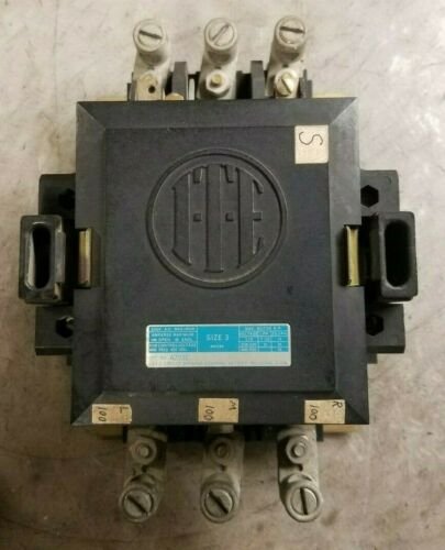 ITE SIZE 3 CONTACTOR 120 VAC COIL 600 VAC 50 HP 3 PHASE A203E