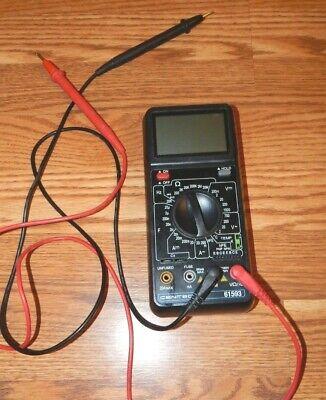 Cen-tech 11 Function Digital Multimeter 61593 W Leads -used