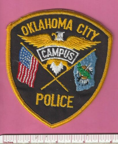 Oklahoma City State of OK Campus Law Enforcement College Police Shoulder Patch