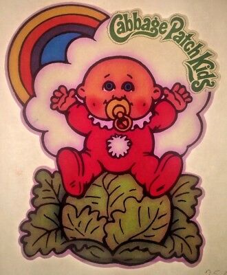 Original Vintage 1982 Cabbage Patch Kids Baby With Pacifier Iron On Transfer